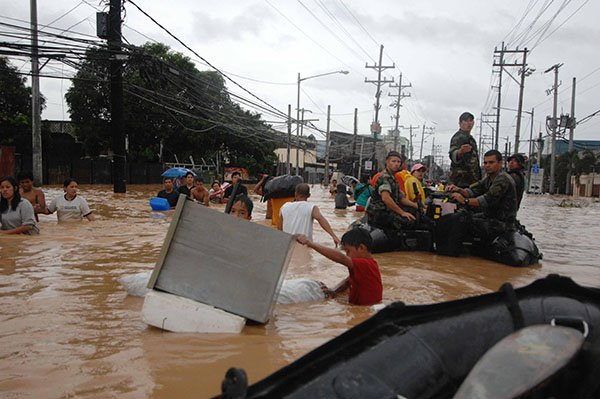 Philippines flooding aftermath